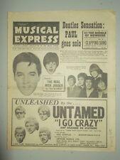 NME #963 JUNE 25 1965 BEATLES MICK JAGGER PAUL MCCARTNEY DUSTY SPRINGFIELD ELVIS