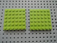 LEGO DUPLO 50 Pezzi LIME pietre 2x2 Lime 4 scanalata pietra elementi costitutivi NUOVO