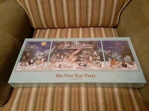 BRAND NEW THE NEW YEAR PARTY CHRISTMAS JIGSAW PUZZLE SET 2×500 1×1000