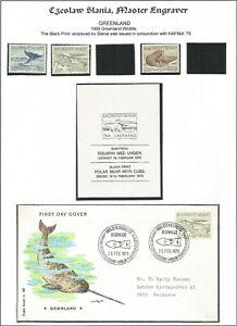 M/ 1969 Greenland; Slania;  Wildlife; Black print Hafnia '76; 1975 FDC