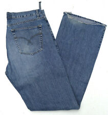 SMOG Herren Men Jeans Hose 33/34 W33 L34 Regular denim used stonewash Blau B312