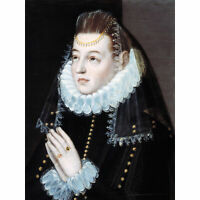 Orio Portrait Lady Prayer Religious Painting XL Canvas Art Print
