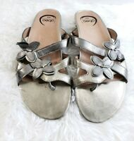 Abeo B.I.O System Sandals SUZANNE Size 8 Gold Metallic