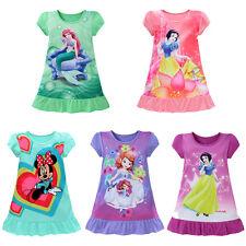 Edad 3-10Y Niño Niña Vestido Verano Algodón Princesa Sirena Fiesta Faldas Ropa