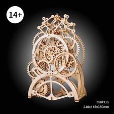 Robotime DIY Educational Toy Clockwork Gear Drive Project Woodcraft Wooden Model