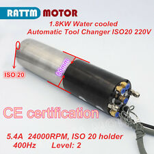 Professional 1.8kW ISO20 220V ATC Spindle Motor Automatic Tool Changer for CNC