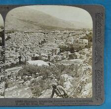 Stereoview Photo Palestine Shechem Whr Hebrew Empire Was Divided E Past Mt Ebal
