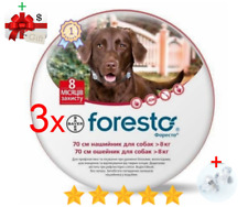 3Pack Seresto/Foresto Flea & Tick Collar for Large Dogs Over 18lbs (8kg)