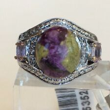 TGW 5.46 cts Tasmanian Stichtite, Rose De France Pink Amethyst Ring Size 6