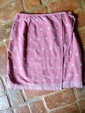 High Sierra, embroidered, rose chambray denim, wrap skirt, size 8