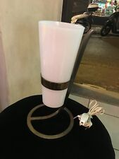 LAMPADA DA TAVOLO 50s ITALIAN DESIGN BRASS PEXIGLASS TABLE LAMP