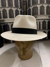 Borsalino Men's Panama Hat Made In Italy Size 64 XXL