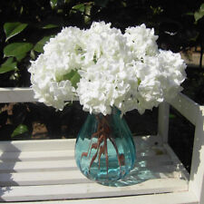 Lovely Realistic Milk White Mini Hydrangea Artificial Fake Flower Wedding Decor