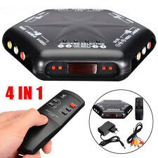 5 Way 4 IN 1 Out RCA S-Video Video Audio Game AV Switch Box Selector W/ Remote