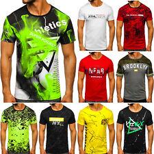 T-Shirt Tee Rundhals Kurzarm Aufdruck Sport Print Slim Fit Herren Mix BOLF Motiv