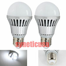 4x 7W E27 E26 6000K Pure Bright White Energy Saving LED Light Bulbs, Home Office