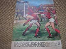 GEORGE BEST MANCHESTER UNITED 1973 COVER ITALIAN MAGAZINE