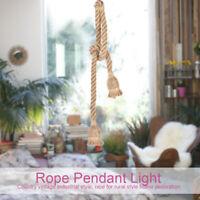 D'intérieur corde en chanvre lustre plafond rétro de lumière Pied lampe pour E27