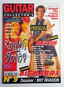 Revue GUITAR COLLECTOR'S N° 9 01/1997 KEITH RICHARDS ROLLING STONES French + CD