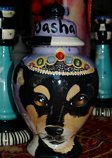 Custom Small Pet urn for chihuahua rat terrier ashes ash cremation jar memorial