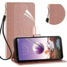 LG Stylo 4 LG Q Stylus Case PU Leather Wallet Magnetic Flip ID Card Holder Cover