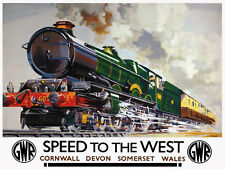 Speed To The West GWR, Retro metal wall sign/plaque / Train / Railway/ Gift