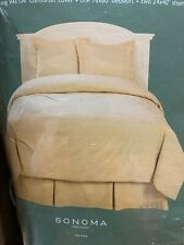 King Size Silk Blend Comforter Set With Bedskirt, Opened, NEW