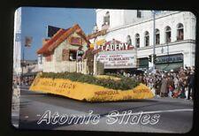 1953  kodachrome Photo slide Academy movie Theatre Pasadena CA rose parade #2