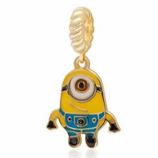 Minions 18K Gold Over 925 Sterling Silver Charm Bead Fit European Bracelet S3134