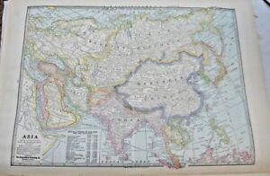 1933 Map Of Asia From The Commercial Atlas of the World
