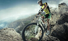 Splendido MOUNTAIN BIKE CICLISMO Canvas #1 Muro Appeso A1 PICTURE Art Home Decor
