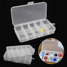Compartimiento de almacenamiento Organizador pequeños 3 un. 10 caja de plástico nuevo fusible de uñas de arte del grano