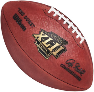 SUPER BOWL XLII 42 Authentic Wilson NFL Game Football - NEW YORK GIANTS