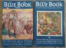 Lot of 2 BLUE BOOK magazines1934: June & September Excellent Pulp