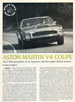 1977 Aston Martin V8 Coupe - Road Test -  Classic Article A68-B