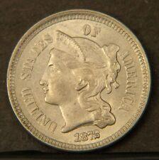 1872 Three Cent Nickel  Choice BU  (B2350)