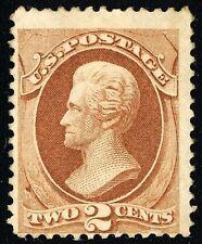US # 146 *UNUSED H* { 2c RED BROWN JACKSON } BANKNOTE OF 1870 SERIES CV$ 125.00