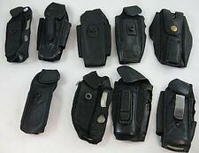 Lot of 9 Mixed Phone Soft Leather Carrying Case Nextel As Is