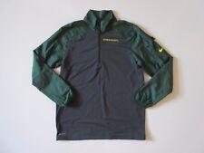 Nike Team Men's Green & Gray Colorblock Oregon Ducks Dri-FIT 1/4 Zip Pullover M