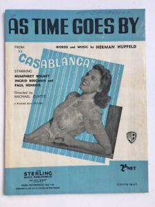 As Time Goes By: Casablanca Sheet Music - Herman Hupfeld