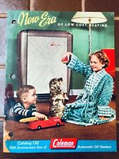 Coleman Automatic Oil Heater Catalog 130 with 1950 price list