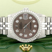 Women's Rolex Datejust 31mm S/S Jubilee Watch w/Chocolate Dial & Diamond Bezel