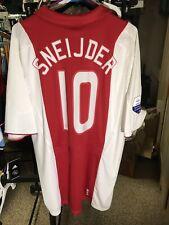 Wesley Sneijder Adidas 2007-2008 XL Ajax Amsterdam Kit Shirt Jersey Vintage NWT