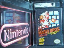 Nintendo NES Super Mario Bros. New NIB Factory Sealed VGA 85 Black Box RARE