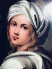 Antique Miniature Fine Portrait Painting on Porcelain, Circa 1800's