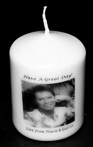 Personalised Candle Card, Unique Keepsake Present, Cliff Richard Image Gift #1