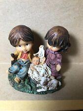 New Nativity Mary Joseph Baby Jesus ceramic figurine 3�