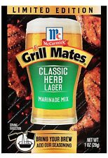 3X McCormick Grill Mates Classic Herb Lager Marinade Mix 1 oz Limited