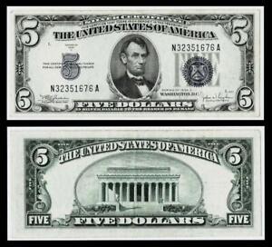 1934-C $5 SILVER CERTIFICATE NOTE~~EXTRA FINE