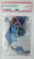 2019-20 Panini Mosaic Brandon Clarke Rookie RC #207, Grizzlies, Graded PSA 10